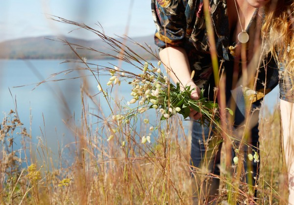 Nicolette Camille forages for flowers, Catskills, Tiny Atlas Quarterly
